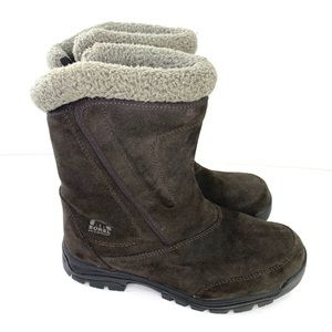 Sorel Brown Suede Water Fall Boots Size 9